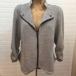 Torrid Zip Front 3/4 Sleeve Jacket Blazer Sz 12
